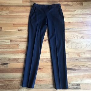 THEORY Wool Flat Front Slim Leg Ankle Trousers 2